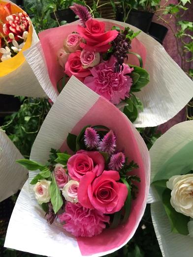 bouquet pink flowers